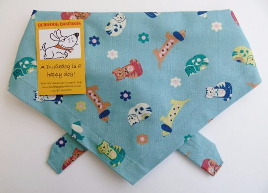 CATS & DOGS DOG BANDANA BY DUDIEDOG BANDANAS