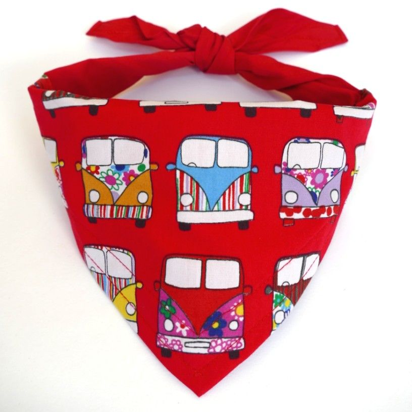 RED CAMPERVAN PANEL DOG BANDANA