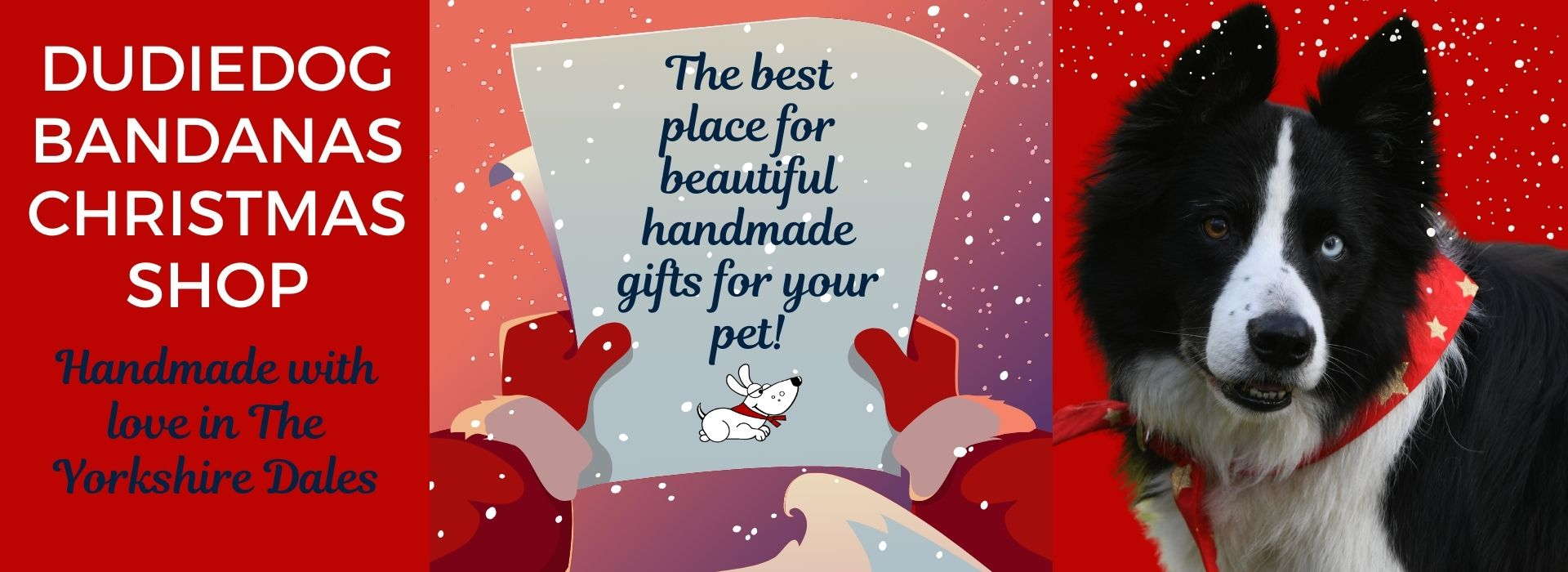 The best christmas gifts for dogs UK at Dudiedog Bandanas Christmas dog shop