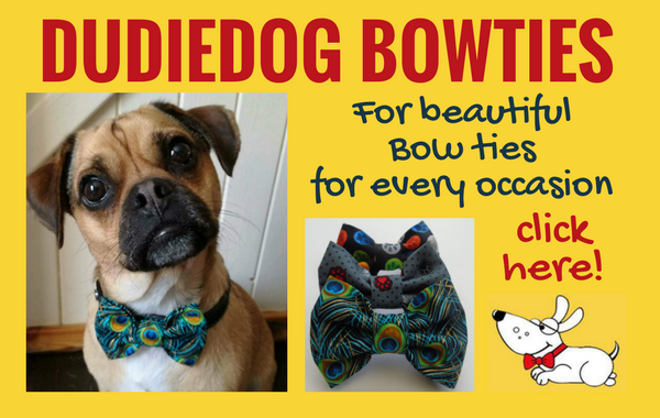 Beautiful dog bow ties, handmade in Yorkshire by Dudiedog Bandanas. Best removable Bow ties UK