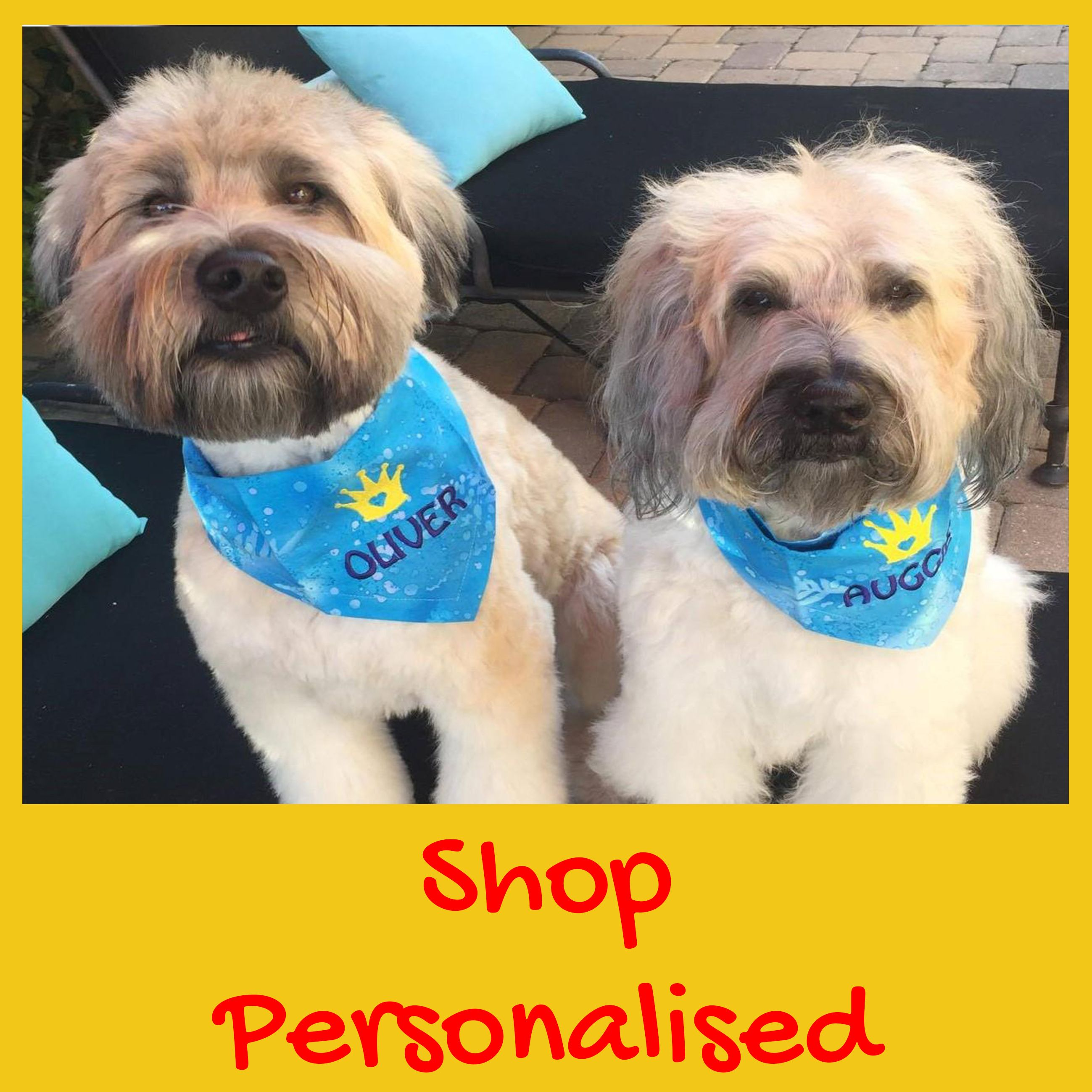 For beautiful custom embroidered dog bandanas head to Dudiedog Bandanas! Dog bandanas with names! Free UK p&p